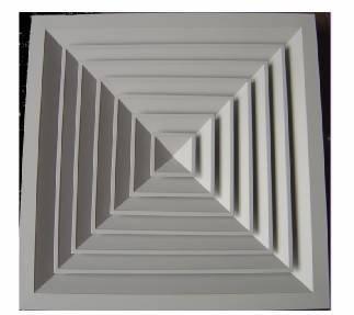 FK-FS2-B,Square Ceiling Diffuser
