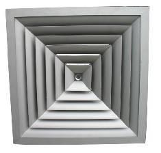 FK-HS,Square Ceiling Diffuser(Arc Blade )