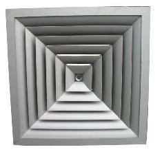 FK-HS,Square Ceiling Diffuser(Arc Blade )